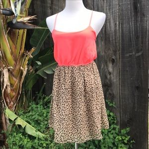 Free bird Leopard and Coral Dress